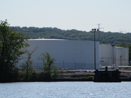 New Oil Storage Tanks On The Rensselaer Side Of The Hudson River
