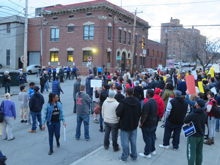 Protest Over The Death Of Dontay Ivy At South End Police Station, April 2015
