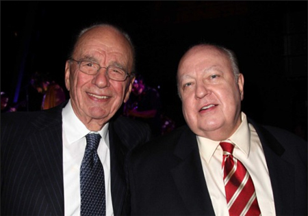 Aren't They Lovely? Rupert Murdoch And His Best Boy Roger Ailes