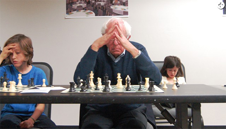 Senator Sanders At The Chessboard, Vermont 2014