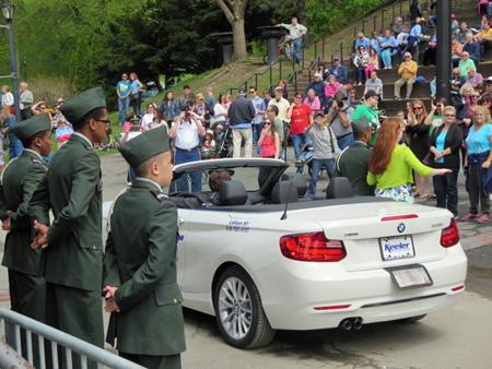 The Uniformed Gentlemen Escorted The Ladies From Their Vehicles