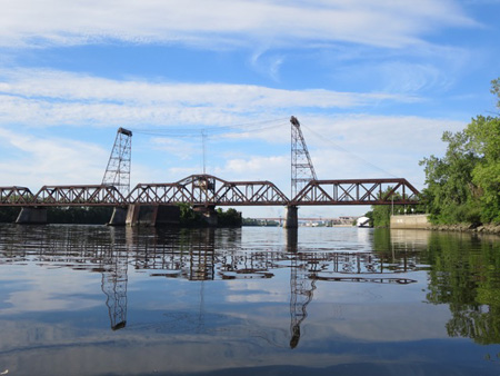 The Livingston Avenue Railroad Bridge, Note The Oil On The Water