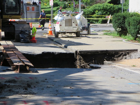 One End Of The Hole On south Lake Street At Elberon Place