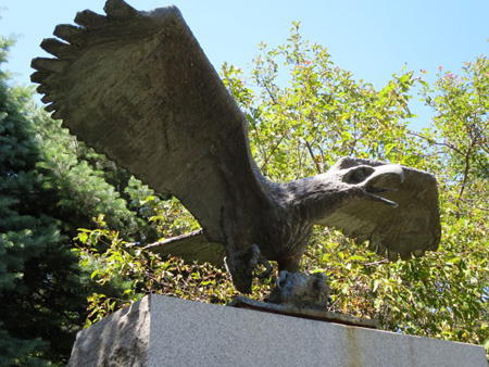 The Horrifying Eagle Of Death Atop The War Memorial In Delmar