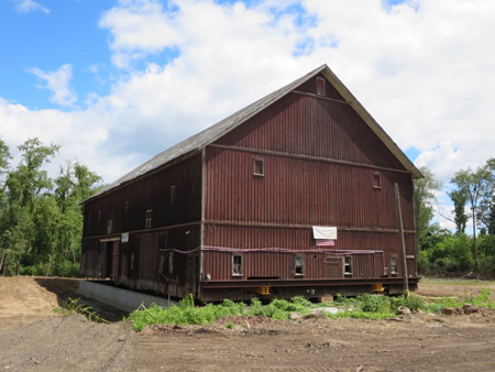 The Enormous Hilton Barn On Its New Foundation