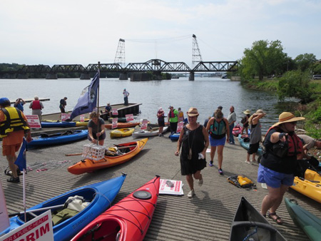 Kayakers And A Few Canoists Prepare To Launch