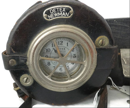 A Much Used Detex Clock