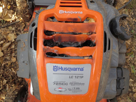 Dangerous Badly Built Husqvarna Lawnmower That For No Reason Burst Into Flames, Don't Buy Husqvarna