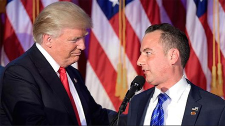 Donald Pussygrabber Welcomes Reince Preibus Into The Bedchamber