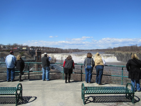 The Cohoes Falls Overlook