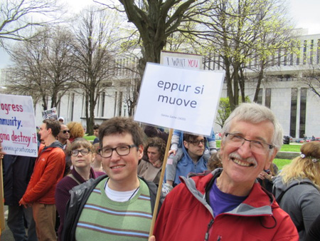 Earth Day Science March, Albany NY… Galileo Said That