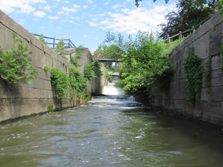 The Old Champlain Canal Lock Used Today As A Spillway
