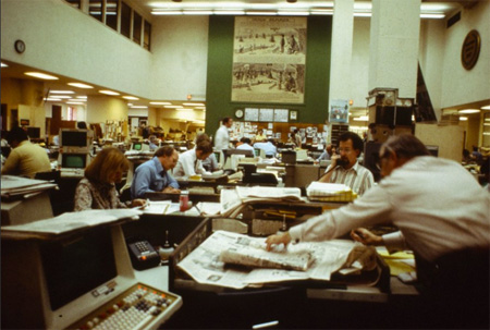 Newspaper Newsroom, 1980s