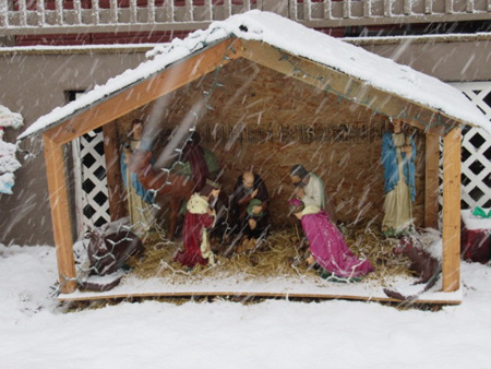 Nativity In The Snow