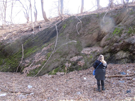 The Wife Checks Out The Rock Walls In The Ravine