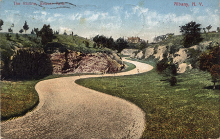 Postcard Of The Ravine Marked 1913, The Sewage Treatment Facility Will Go In The Foreground