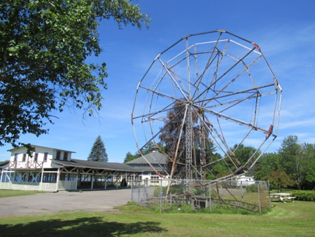 The Vintage Ferris Wheel, Note The Carefully Kept Grounds