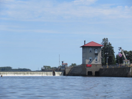 East Side Of The Federal Dam and The Lock House